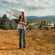 Female engineer checking construction — Stock Photo #54885539