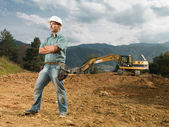 Confident construction worker — Stock Photo
