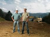 Inżynierów budownictwa na stronie — Zdjęcie stockowe