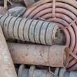 Stack of rusted pipes — Stock Photo #62599361
