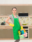 Ready for home cleaning — Stockfoto