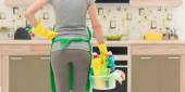 House cleaning service — Stock Photo