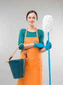 Cleaning woman — Stock Photo
