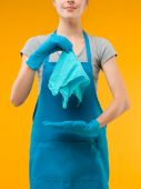 The perfect rag for cleaning — Stock Photo