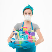 Unfriendly cleaning products — Stock Photo