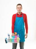 Cleaner ready for work — Foto de Stock