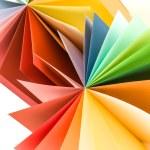 Origami colored paper fan — Stock Photo #66267847