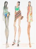 Fashion supermodels — Stock Photo