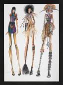 Tribal inspired fashion design — Stockfoto