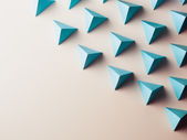 Abstract background consisting of tetrahedrons — Stock Photo