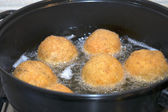 Fry of arancini — Stock Photo