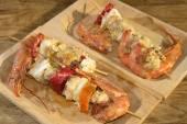Kebab of fish — Стоковое фото