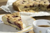 Coffee espresso and jam tart — Stock Photo