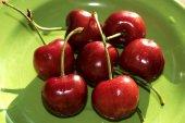 Freshly picked cherries — Stock Photo
