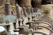 Gears of agricultural machinery — Stock Photo