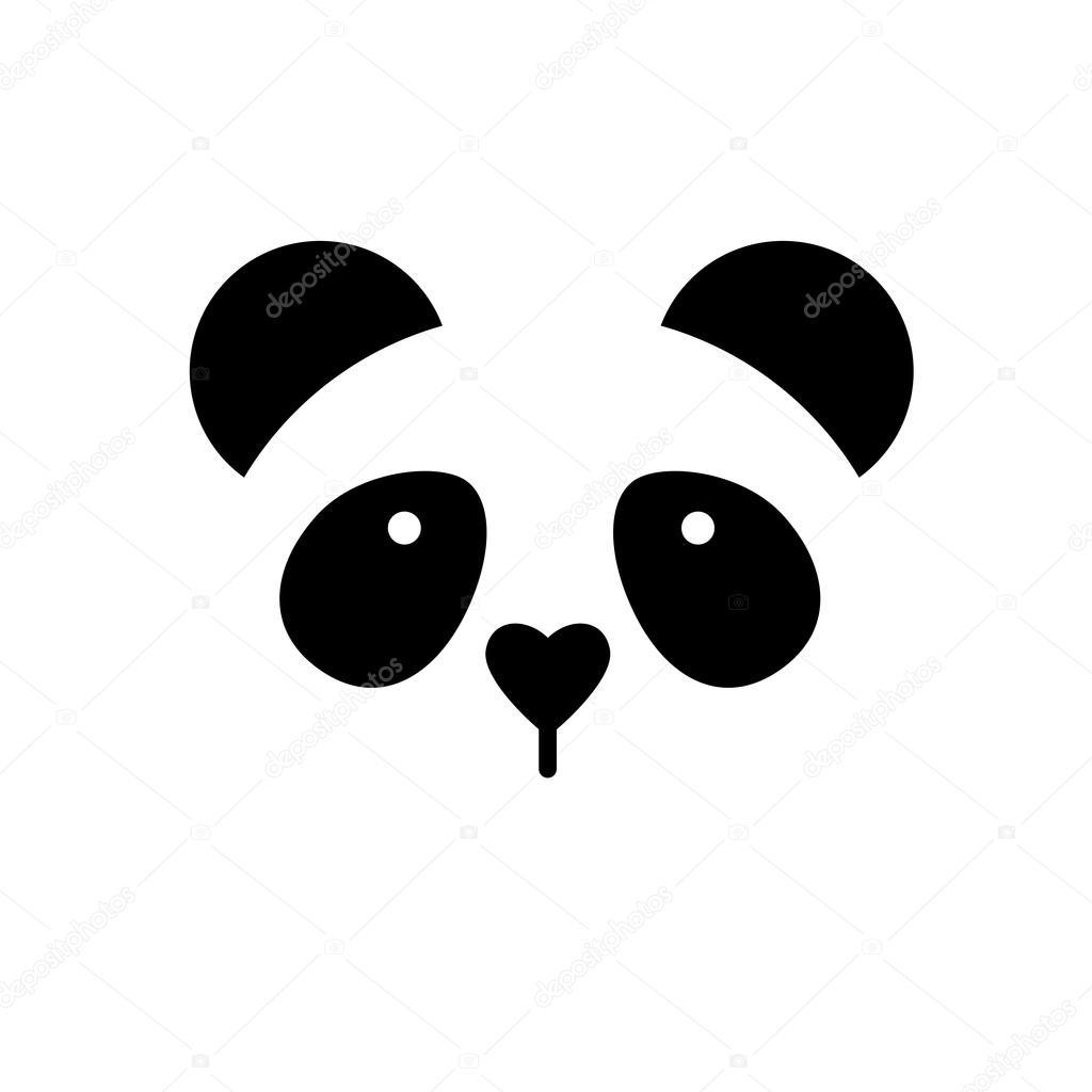 Panda bear template stock vector antoshkaforever for Panda bear cake template