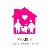 Family sweet home — Stock Vector