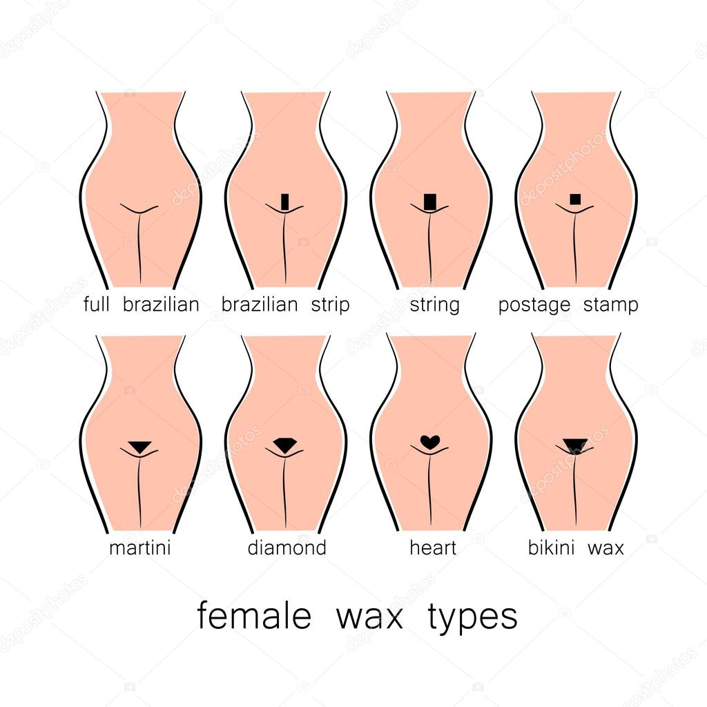 Bikini waxing patterns here not