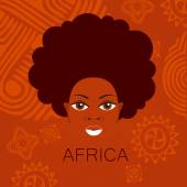 Africa people sign — Stock Vector
