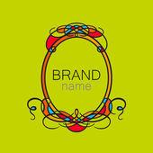 Brand name frame logo — Stock Vector