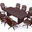 Boardroom Office Conference Table and Chairs — Zdjęcie stockowe #81558754