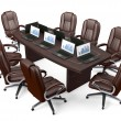 Boardroom Office Conference Table and Chairs — Stok fotoğraf #81558788