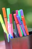 Colored marker pens  — Stock Photo