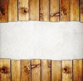 Wooden boards border — Stock Photo