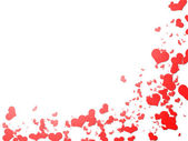 Bordo cuori rossi — Foto Stock