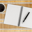 Notebook, pen and coffee — Stock Photo #62139225