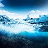 Sea bottom and sky — Stock Photo