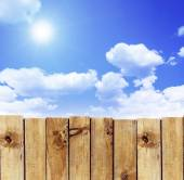 Fence against sky — Stock Photo