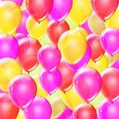 Blue birthday balloons — Stock Photo