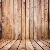 Ročník hnědá dřevěná prkna pozadí — Stock fotografie