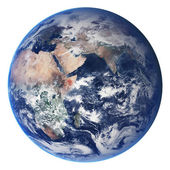 Earth globe isolated on white — Stock Photo