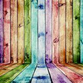 色の木目テクスチャ — ストック写真