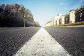 Asphalted highway over blue sky — Stock Photo