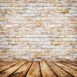 Room interior  with white brick wall — Stock Photo #69691973