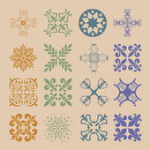 Diverse styles of Damask Style Symbol Sets. Original Pattern and — Vecteur