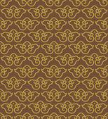 Brown Color Bat plaid pattern. Korean traditional Pattern Design — Stockvector