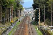 Railway tracks in Japan — Stock fotografie