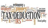 Tax deduction — Stock Photo