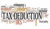 Tax deduction — Stock Photo