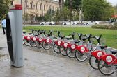Seville bicycle rental — Stockfoto