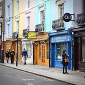 Notting Hill shopping — Stock Photo