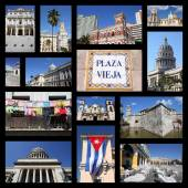 Havana Cuba collage — Foto Stock