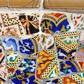 Barcelona mosaic — Stock Photo