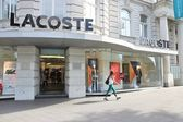 Lacoste fashion store — Stock Photo