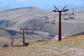 Ski lift in summer — Stock Photo