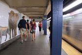 New York subway station — Stock Photo
